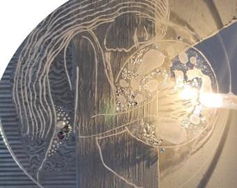 Decorative Suspension Moon and Sacred Feminine Ritual