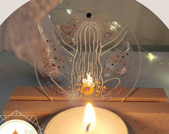 Magic candlestick power of the sacred feminine