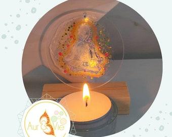 Magic candlestick bubble of light