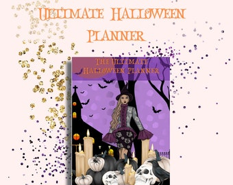 Ultimate Halloween 2022 Printable Planner-Planner Inserts-Pumpkin Carving stencils-Photo booth Props-Party Planner-Trick or Treat Planner