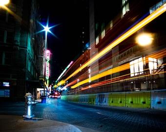 San Antonio Downtown - Aztec Lights Trails