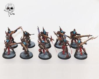 Warhammer 40k Miniatures Painted - Drukhari Dark Eldar Kabalite Warriors or Duo of Eldar - Killteam Battle Ready