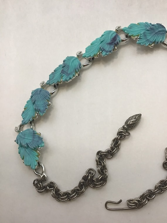 Fairycore blue + purple feather necklace - image 6