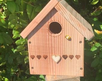 Nest Box Bird House for Blue Tits and Small Garden Birds