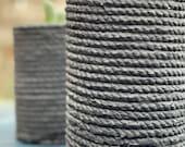 """Handmade Cement Woven Flowerpot 5""""Wx7""""Dx8""""H"""