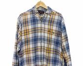 Vintage Oversized Anvil Plaid Gingham Tartan Shirt
