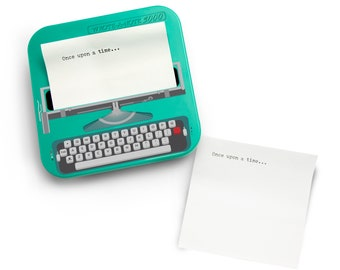 Typewriter shaped sticky note dispenser with sticky notes (100 sheets)