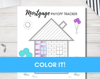 Mortgage Payoff Tracker-Payment Progress-Go Debt Free!