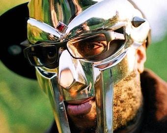 MF Doom Mad Villain Gladiator Mask, Wearable Cosplay Costume, 18 gauge face Armor, Halloween