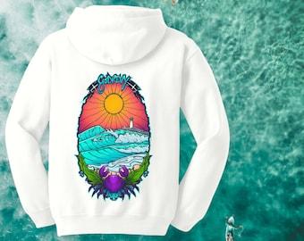 BTQ Godrevy Surf Hoodie Full Colour