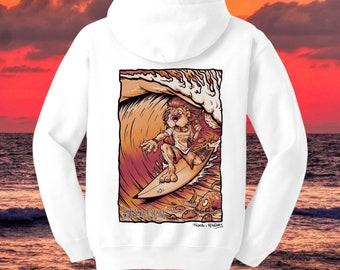 BTQ Fistral Surf Lion Hoodie Sepia
