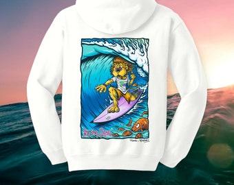BTQ Fistral Surf Lion Hoodie Full Colour