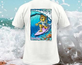 BTQ Fistral Surf Lion T-Shirt Full Colour