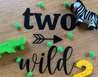 "Ironing picture ""two wild"" / Birthday T-shirt / 2nd birthday"