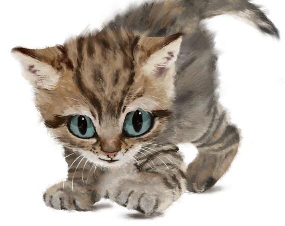 Poster 'Fierce Kitten' A2