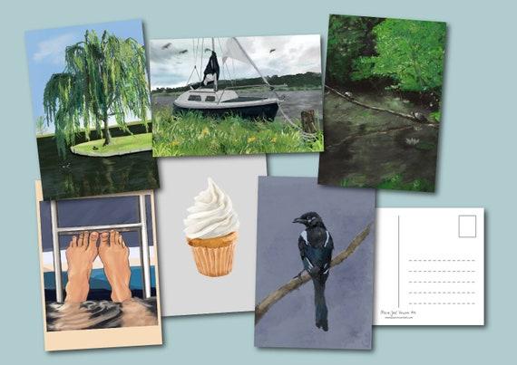 6 Ansichtkaarten (ter gelegenheid van 50 jaar Nieuwegein)