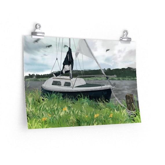 50 Year Boat - Sailing boat digital art - Matte poster print, multiple sizes (USA)