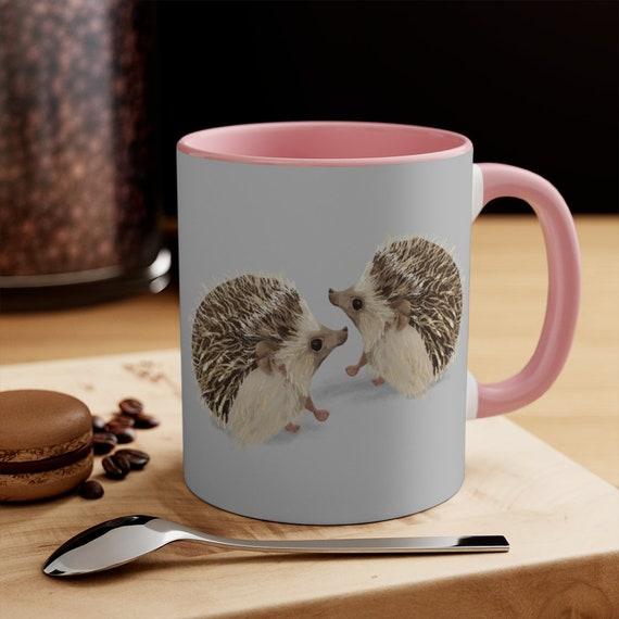 Hedgehog lovers - cute mug, coffee mug, tea mug, quality ceramic. Original digital artwork.