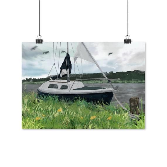 50 Year Boat - Sailing boat digital art - Matte poster print, multiple sizes (EU)