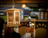 Bird Feeder, Craftsman Prairie Style Wooden 3D Wooden Puzzle Kit and Lantern DIY Model You Build! Mason Jar w/Seed + Solar Light Included