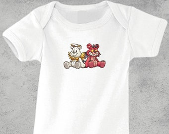 "Baby body ""Teddy Bear"", printed | Dear | Love | Angel | Fishing | Devil | Devil | Shirt | Birth | funny | Made in GERMANY | FREE SHIPPING"