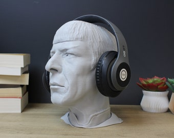 Leonard Nimoy Headphone Stand | Vulcan Headset Stand | Star Trek, Next Generation, Gaming, Game Room, Headphones