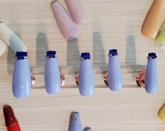 Blue Moon Themed Nails