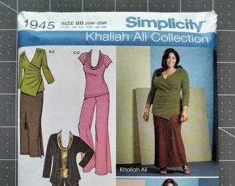 Simplicity 1945 Khaliah Ali Wardrobe Pattern Uncut