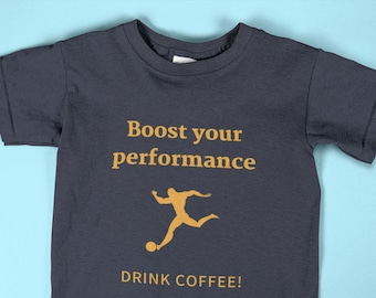 Boost your Performance Unisex tee | Ideal T-shirt for Athletes, Soccer Players and Sport lovers | Fashionable and aesthetically pleasing tee