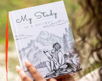 Bible Journal for Jehovah's Witnesses - My Study is a Delight - JW Bible Study Notebook - Pioneer School & JW Gifts - Hardcover Journal