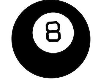8 Ball Digital File (SVG,PNG)