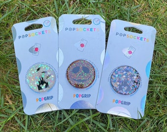 HALLOWEEN Mickey ears Minnie bow Inspired resin glitter popsockets with swappable tops