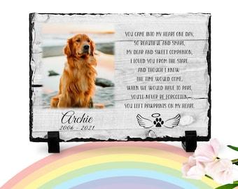 Dog Memorial Plaque   Paw print   Rainbow Bridge poem   Pet memorial plaque   Pet loss Gift   Remembrance gift   Dog keepsake   RIP dog