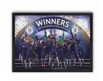 Chelsea Champions Portrait Print (Chelsea FC) | A3 A4 A5 Poster CFC Champions League 20/21