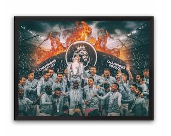 Man City Champions Portrait Print (Manchester City FC) | A3 A4 A5 Poster MCFC Champions 20/21