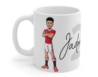 Jadon Sancho Caricature Mug (White Background) | Man United | Premier League 2021