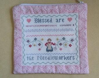 Case Needleworkers, case for handicraft materials, make-up stuff case, writing utensils, e-book cover, handy for in handbag, handmade