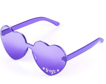 TCU Horned Frogs, TCU Gameday, TCU Football, Tailgate Sunglasses, Heart Sunglasses, Gameday Attire, College Gameday, Gameday Accessories
