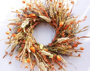 24 Inch XL Autumn Fall Wreath