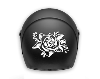 Motorcycle helmet sticker / decal / waterproof  / rose