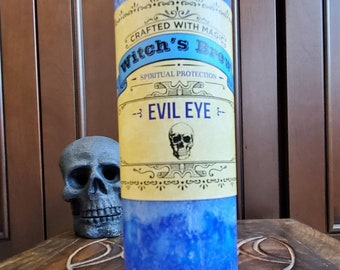 Witch's Brew Evil Eye Candle| Spell Casing |Altar Tool