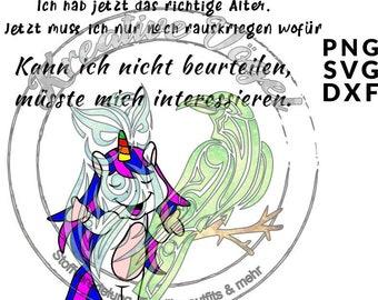 unicorn Rosalie Pummelhorn plotter file svg dxf