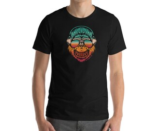 THE SavvySapien T-Shirt! Rainbow, Happy Monkey, Smiling Monkey, Monkey with Sunglasses...Savvy?