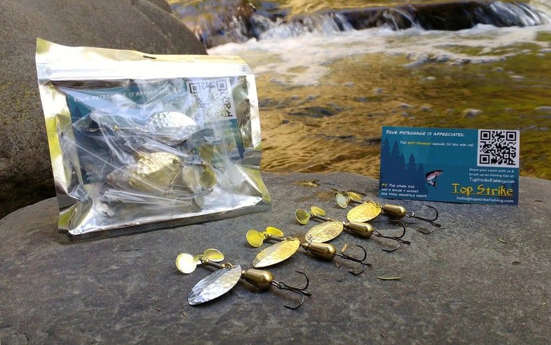 Silver & Gold Spinners  Great for Trout Bass Panfish  Top image 0