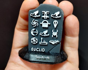 No Man's Sky Personal Coordinates Stone (Hand Painted, 3D Printed)