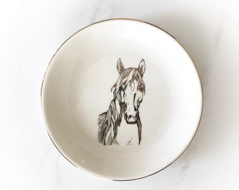 Golden Boy Equestrian Horse Jewelry Dish perfect for a horse lover gift