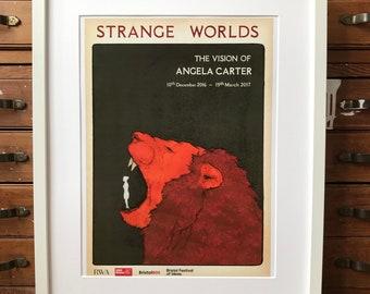 Angela Carter 'Strange Worlds' A3 Digital Print