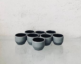 Espresso cup, anthracite-brown