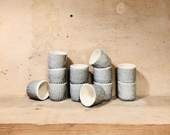 Porcelain cup, light grey
