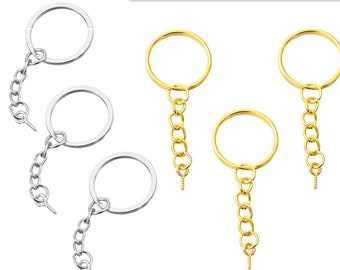 DIY Key Chain Sets , 25mm Keychain Ring , Jump rings, Silver Color Plated, DIY Keychain